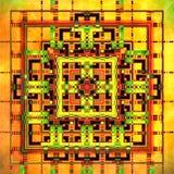Geometrisk Fractal II Arkivfoto