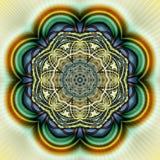 Geometrisk Fractal II för cirkel Royaltyfri Foto