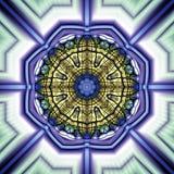 Geometrisk Fractal III för cirkel Royaltyfri Bild