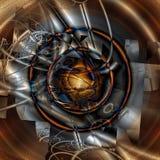 Geometrisk Fractaldropp arkivbilder