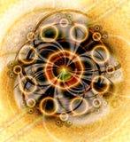 Geometrisk Fractaldropp för cirkel Royaltyfri Bild