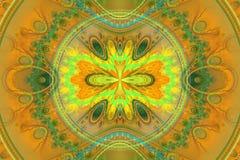 Geometrisk fractalform kan illustrera att dagdrömma för psykedeliska frekvens för explosion utrymmedrömmar för fantasi magisk stock illustrationer