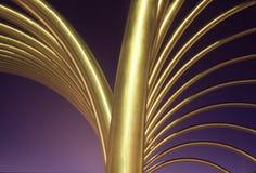 geometrisk guld Royaltyfri Bild