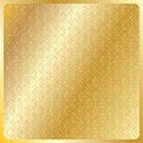 Geometrisk guld- kunglig modell Royaltyfria Bilder