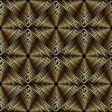 Geometrisk guld- texturerad modell f?r vektor f?r grek 3d s?ml?s Dekorativ modern abstrakt yttersidabakgrund Repetition belagd me vektor illustrationer