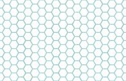 Geometrisk hårkammodell för vattenfärg Royaltyfria Bilder