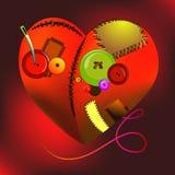 Geometrisk hjärta 12 Arkivfoto
