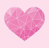 Geometrisk hjärtavektor - Arkivfoto