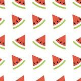 Geometrisk illustration för sömlös abstrakt modell med melon, sommartapeten för textilen som skrivar ut eller bakgrund, baner vektor illustrationer