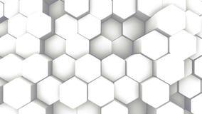 Geometrisk Intro för abstrakt sexhörning Animerat ytbehandla öglaslängd i fot räknat Ljus sexhörnig bakgrund för rastermodell, på stock illustrationer