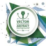 Geometrisk invecklad op konst för vektorabstrakt begrepp 3D vektor illustrationer
