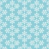Geometrisk jul sömlös modell, vektor för blåa och vita snöflingor Arkivbilder