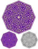 Geometrisk kalejdoskopisk design royaltyfri illustrationer
