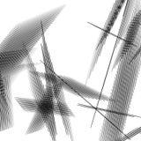 Geometrisk konst med slumpmässiga kaotiska linjer Abstrakt monokrom il stock illustrationer