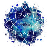 Geometrisk kosmisk ramvektor för vattenfärg vektor illustrationer