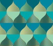 Geometrisk kurva och orientalisk lyxig sömlös modell stock illustrationer