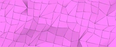 Geometrisk låg polygonal bakgrund 3d för orkidérosa färgabstrakt begrepp Vektor Illustrationer