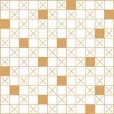 Geometrisk linjär modell vektor Prydnad för tyg, tapet och att förpacka Dekorativ beståndsdel för inre- och designprojekt royaltyfri illustrationer