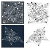 Geometrisk linje modeller Royaltyfri Bild
