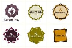 Geometrisk logomalluppsättning Arkivfoton