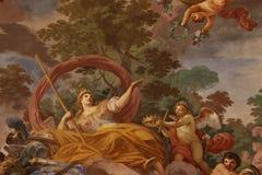 geometrisk målningsmodell för abstrakt dekorativa blommor royaltyfria bilder