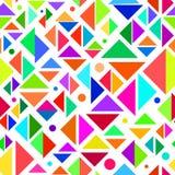 Geometrisk mångfärgad sömlös modell vektor illustrationer