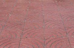 Geometrisk mönstrad trottoar Royaltyfria Foton