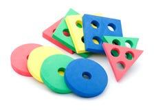 geometrisk makrotoy för barn Arkivbild