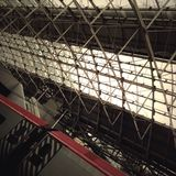 Geometrisk Manchester Piccadilly station Royaltyfria Foton