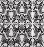 Geometrisk modell för abstrakt sömlös sebra royaltyfri illustrationer