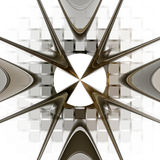 Geometrisk modell för Fractal. stock illustrationer