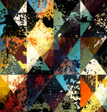 Geometrisk modell för Grunge Royaltyfria Bilder