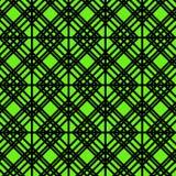 Geometrisk modell för kontur på grön bakgrund Royaltyfri Fotografi