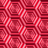 Geometrisk modell för sömlös abstrakt vektor Arkivbild