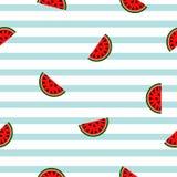 Geometrisk modell för sömlös randig vattenmelon, vektorillustrati Royaltyfri Fotografi
