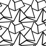 Geometrisk modell för sömlös vektor Royaltyfria Bilder