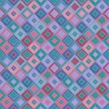 Geometrisk modell för sömlös vektor med romben, fyrkanter ändlös bakgrund med den drog handen texturerade geometriska diagram Pas Royaltyfria Bilder