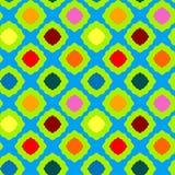 Geometrisk modell för sömlösa kulöra fyrkanter Arkivbilder