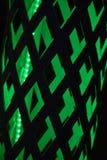 Geometrisk modell för svart och för gräsplan - bakgrund Arkivfoto