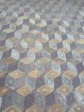 Geometrisk modell för tegelplattaillusionhonungskakor Arkivfoton