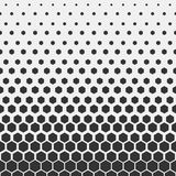geometrisk modell Modell för tryck för Hipstermodedesign sexhörnig Svarta honungskakor på en ljus bakgrund vektor stock illustrationer