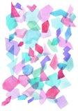 Geometrisk modell för vattenfärg royaltyfria bilder