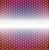 Geometrisk modell för vektor av sexhörningar Fotografering för Bildbyråer