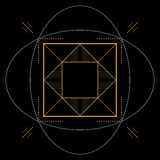 Geometrisk modell, fyrkantig beståndsdel, illustration Royaltyfri Fotografi