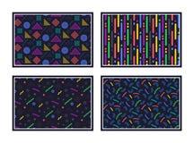 geometrisk modell göra sammandrag seamless textur Färgrika geometriska diagram eller former vektor stock illustrationer