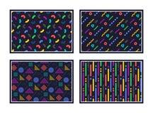 geometrisk modell göra sammandrag seamless textur Färgrika geometriska diagram eller former vektor vektor illustrationer