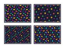 geometrisk modell göra sammandrag seamless textur Färgrika geometriska diagram eller former vektor royaltyfri illustrationer