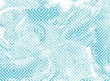 Geometrisk modell med blåttmarmortextur Royaltyfri Fotografi