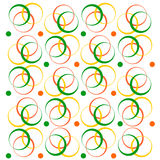 geometrisk modellvektor Cirklar av olika färger Royaltyfri Fotografi