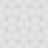 Geometrisk modellvektor Geometriskt enkelt modetygtryck Vektor som upprepar tegelplattatextur Överlappande skraj tema för cirklar royaltyfri illustrationer